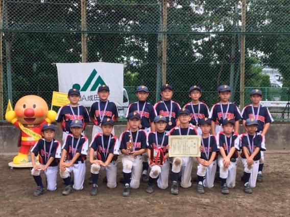 第11回JA成田市旗杯争奪少年野球大会 第3位